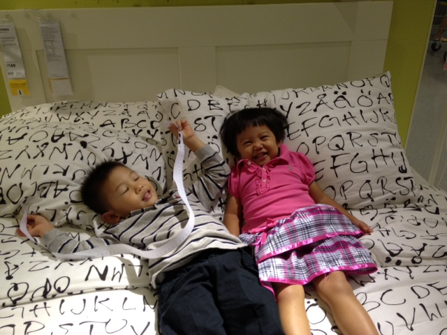 Plonking at Ikea 1