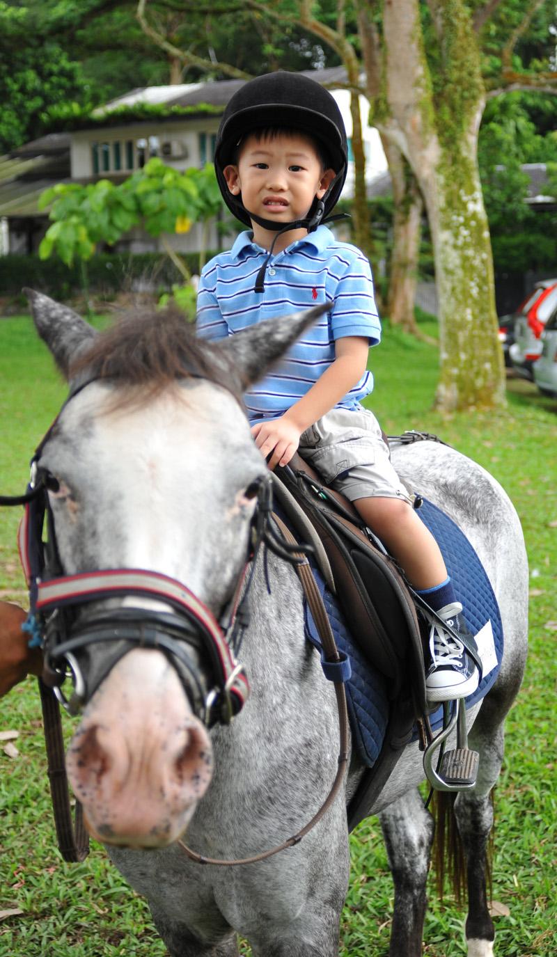 Ben on pony