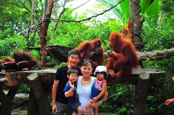Breakfast with Ah Meng's offsprings