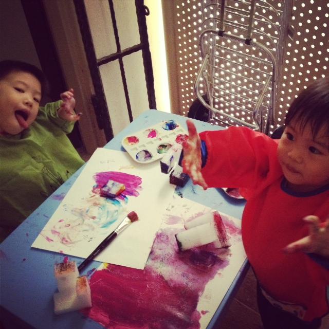 Ben & Becks painting