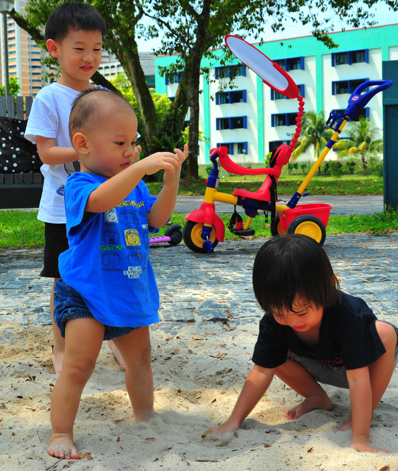 March madness: Sandplay at Bishan Park