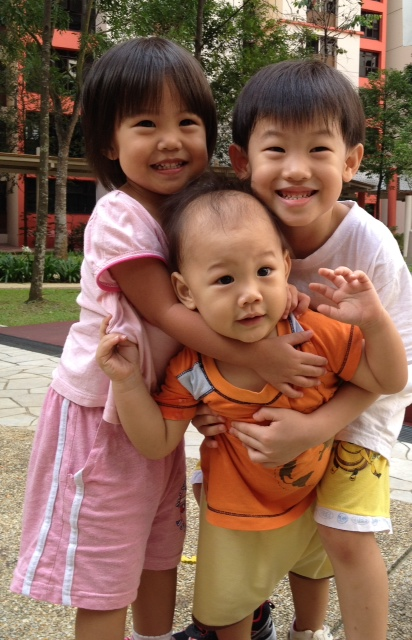 The Kao Kids at the playground