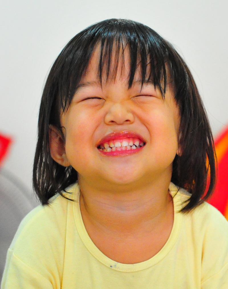 Becks smiling