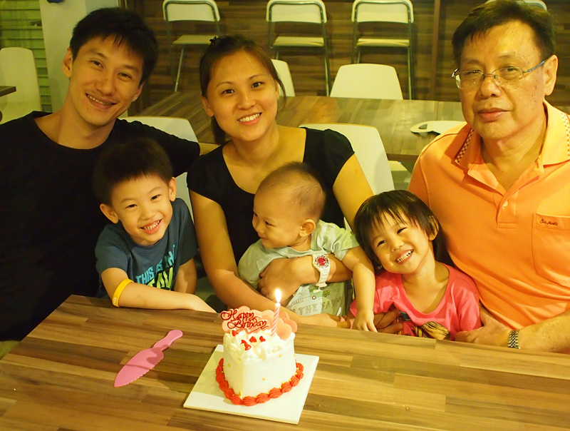 Birthday dinner birthday cake