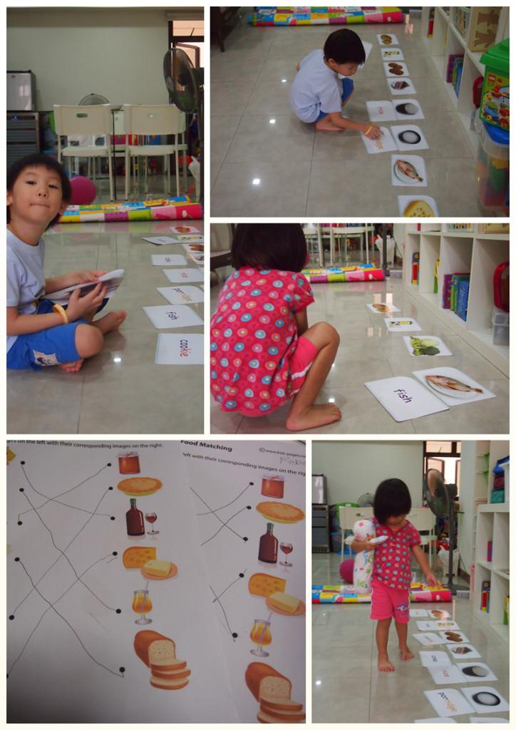 Food flashcard game & food matching