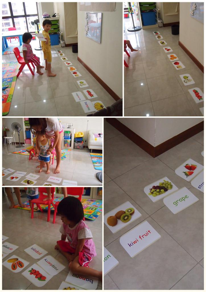 Fruit flashcard game
