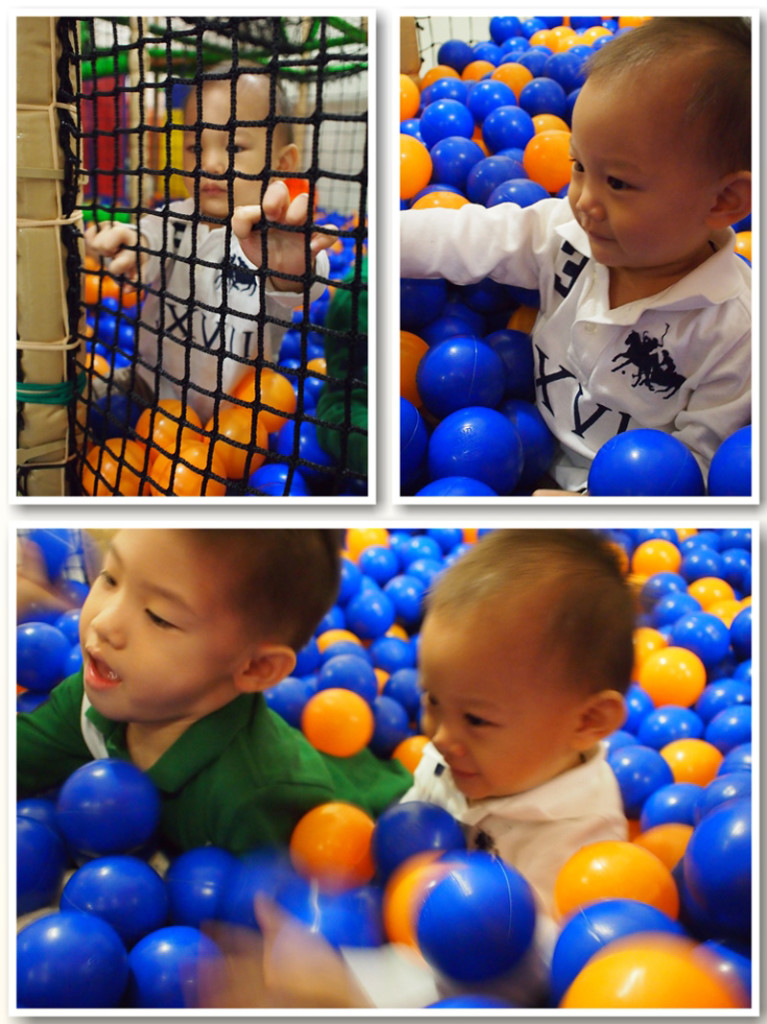 At the bigger (better) ball pool
