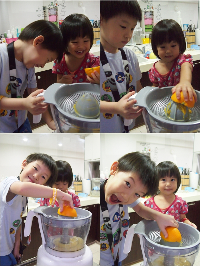 Juicing their own orange, and having fun!