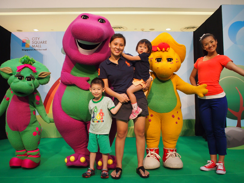 We said hi to Barney, BJ and Baby Bop at City Square Mall