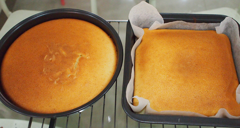 Hot milk cake baked