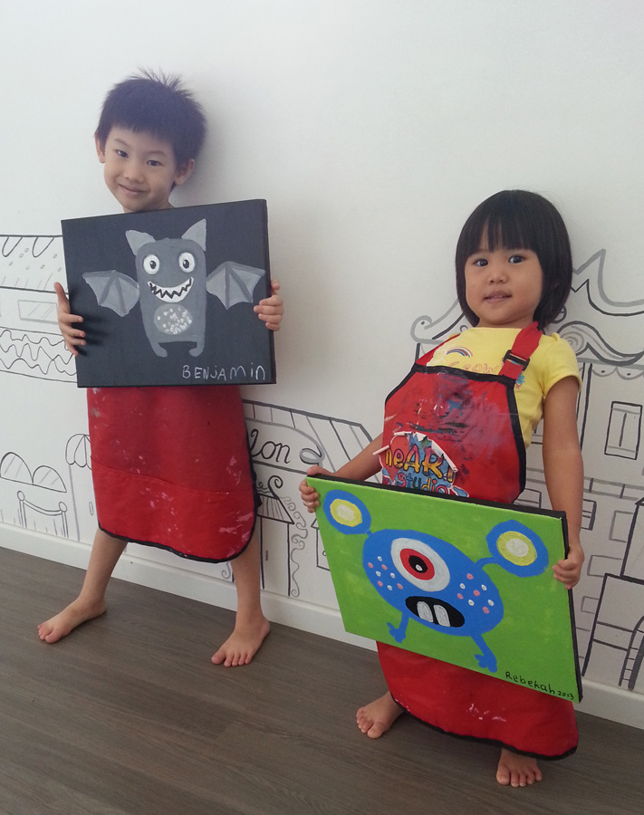 The little painters and their masterpiece