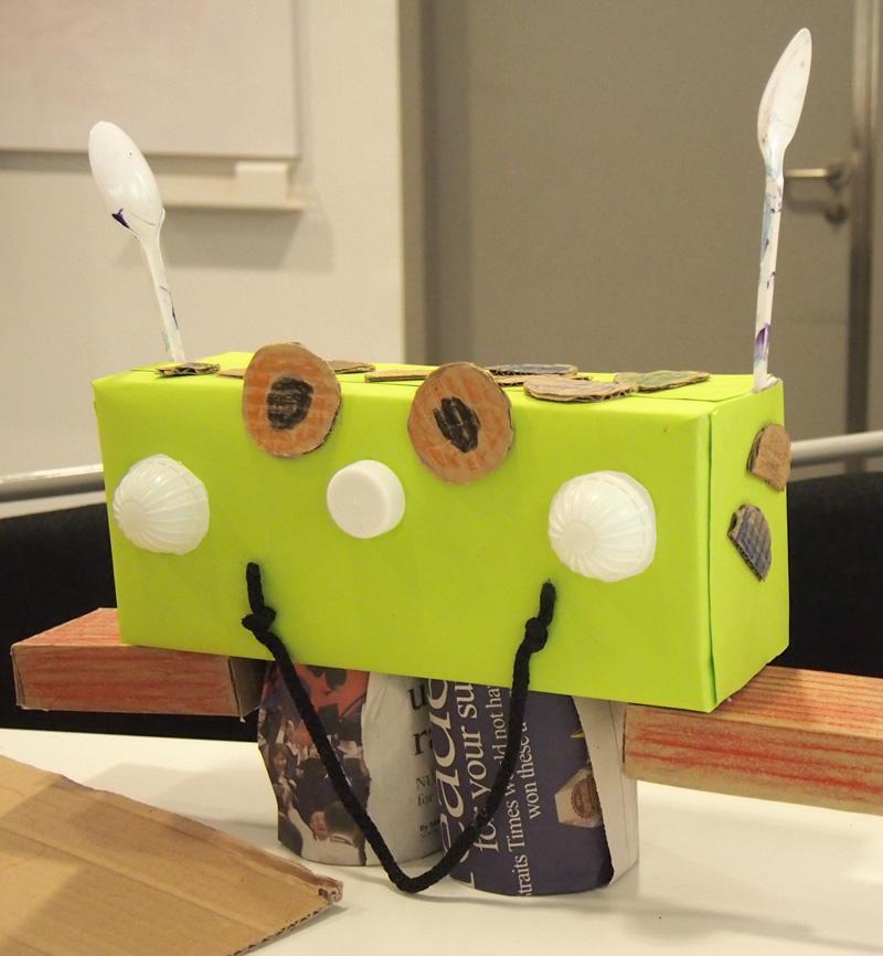Tadaa! We made a robot friend!