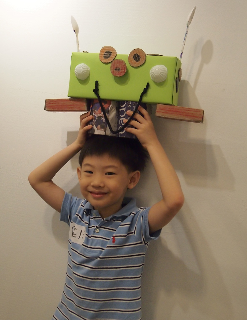 """Ben and our new friend, """"Alien Robot"""""""