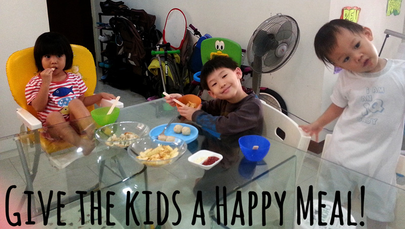 A Happy Meal made with airfried snacks!