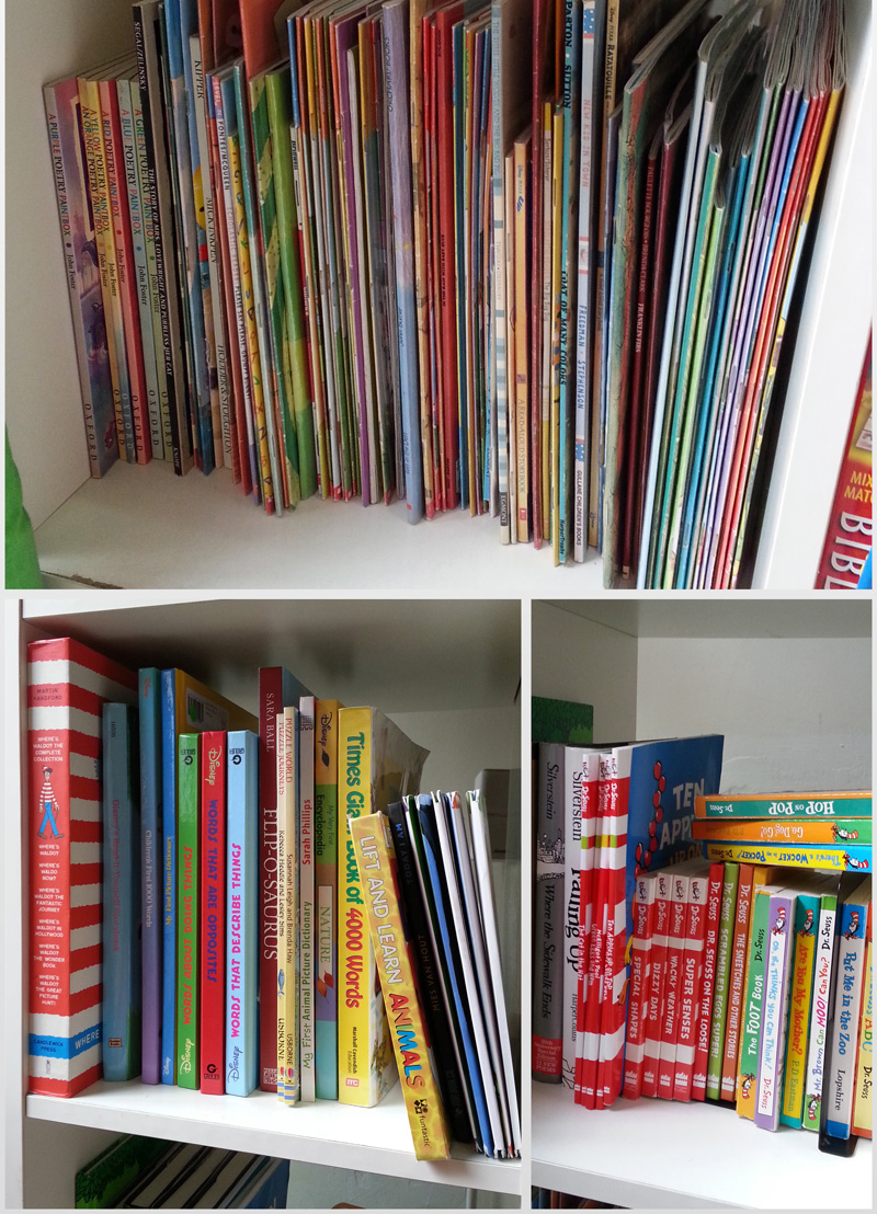 Paperbacks, Dr Seuss and hardcovers