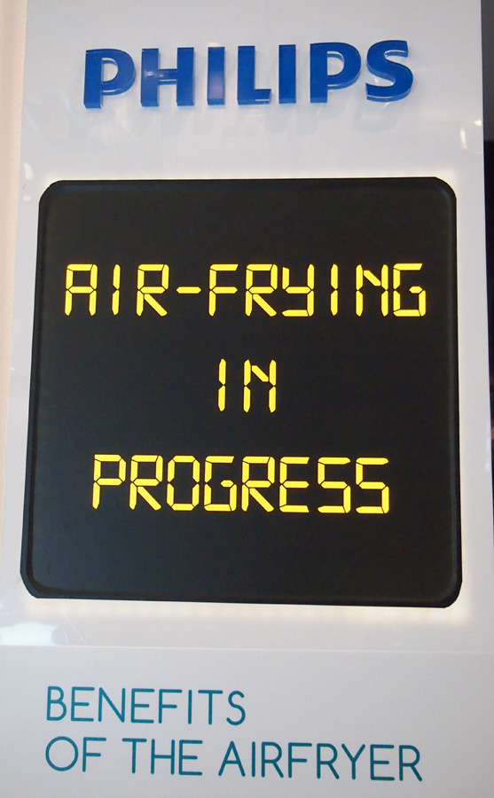 Airfrying in progress