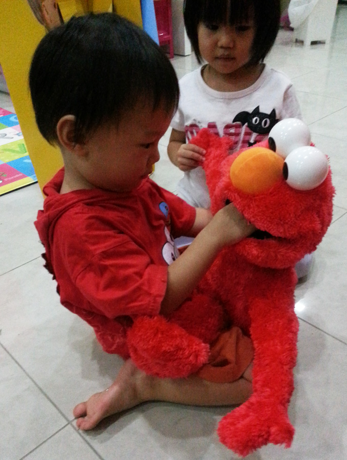 Talking to Elmo