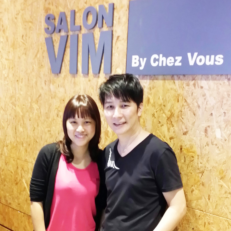 A picture with Ymond Chin, the senior stylist behind my new look