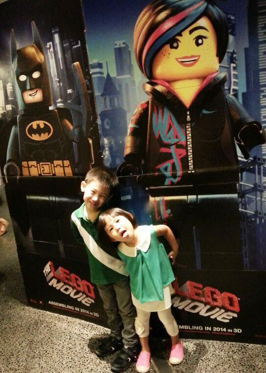 Lego Movie with Batman and Wyldstyle