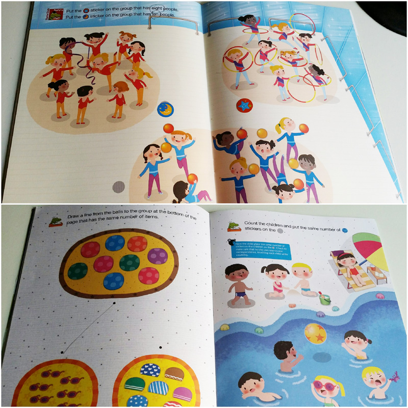 Just look at how beautifully illustrated these counting activities can be from the Play Math Programme!