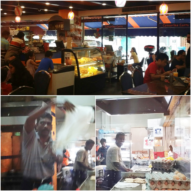 The ever-entertaining Prata Masters behind the glass window