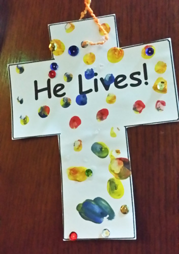 Craft work Ben did in school to celebrate Easter
