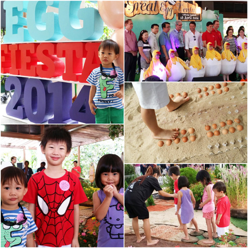 We were at the Egg Fiesta 2014 at Sentosa on Good Friday for some eggy fun!