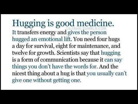 4 Hugs a Day Quote