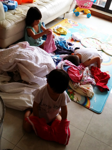There's clean clothes to fold every single day, and on most days the kids are enthusiastic