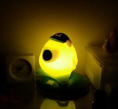 Mr Wazowski's comforting glow