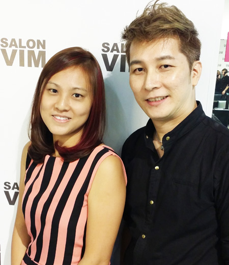With Ymond Chin, the stylist that made it all happen!
