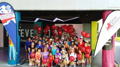 Yes! I ran with all these lovely ladies on Sunday morning along Orchard Road! (Photo credit: GEWR 2014)