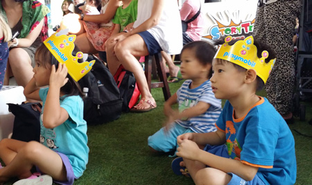Storytelling at Sentosa Playmobil Event