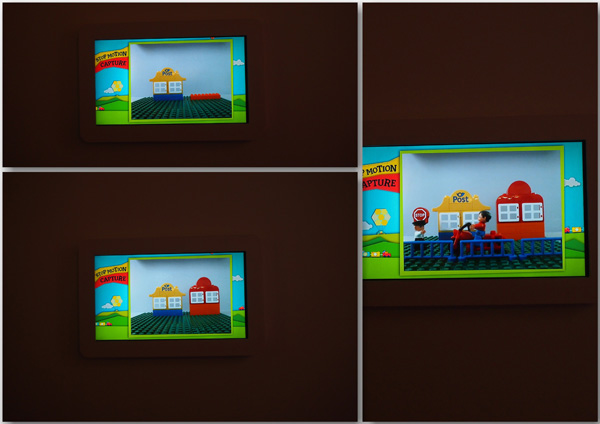 At Kiddie Theatre, kids can build LEGO at designated corners which would then be captured like an animated film!