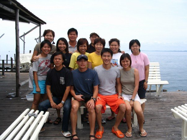 With our friends, with whom we had such a great time with in this kelong in Sibu Island