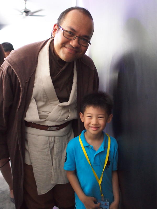 Young Jedi Wannabe with the Master