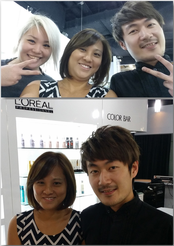 With Evon who gave me the best scalp massage ever, and Damien, who envisoned and executed this style specially for me