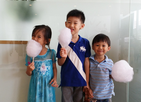 Candy floss happiness at the Volvo Showroom last Saturday
