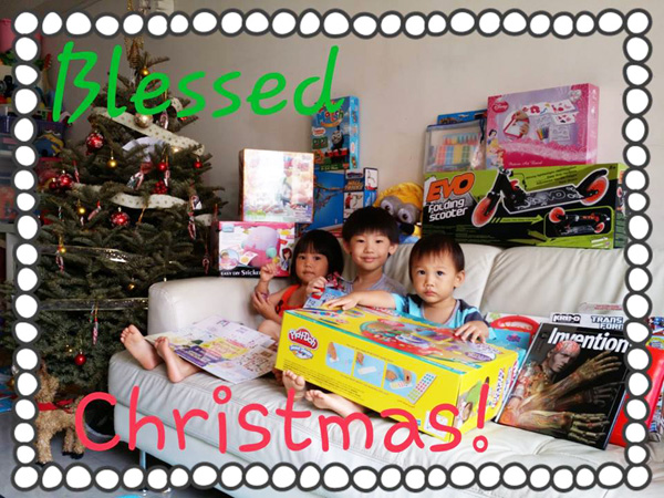 2013: Look at the presents, and how much the kids have grown!