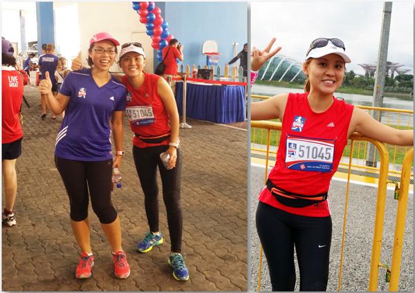 My #RunToLiveGreat buddy and me - she did 21km, I did 5!