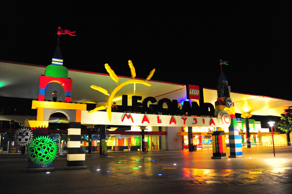 The Theme Park at night