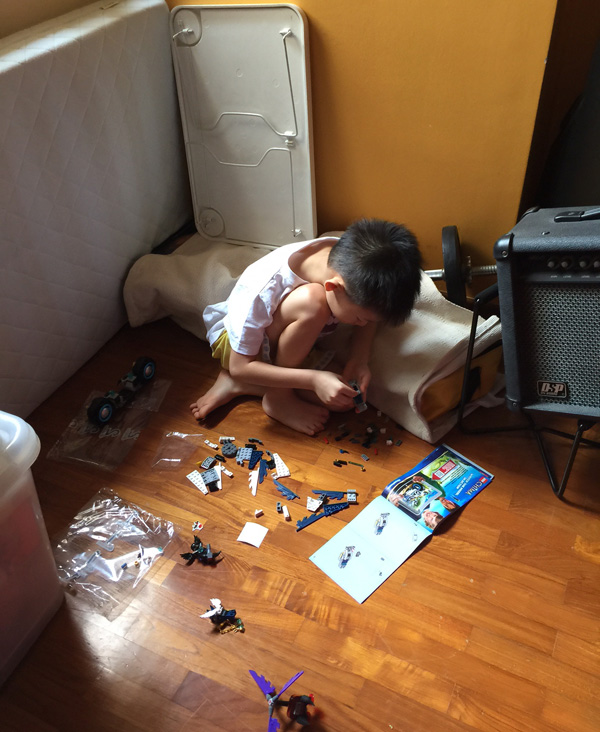 """Leave me alone to make my Lego,"" so says someone"