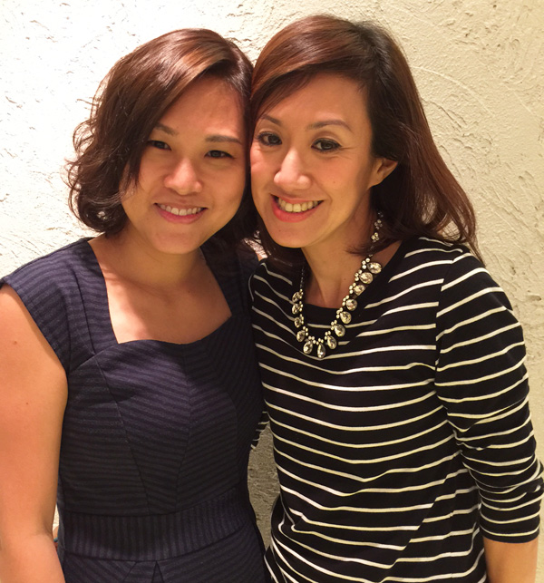 With Annie, the woman who transformed me from flat to wavy
