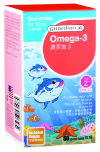 170316 GUMMIES FOR KIDS GUARDIAN OMEGA 3 60's