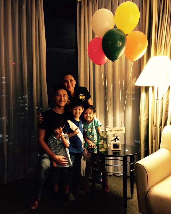 Happy birthday (again), this time from the hotel staff at Le Meridien, planned by Fatherkao