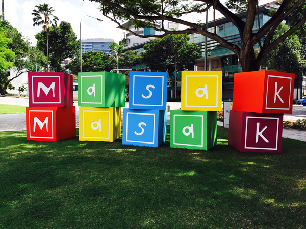 Masak Masak 2015 features familiar playgrounds and interactive installations by Singaporean and international artists at the National Museum of Singapore