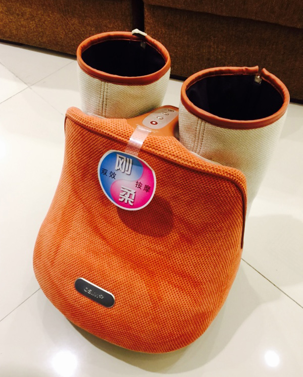 The new OSIM uSqueez Air which looks like a pair of boots