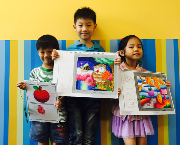 Presenting the Kao Kids' masterpieces...