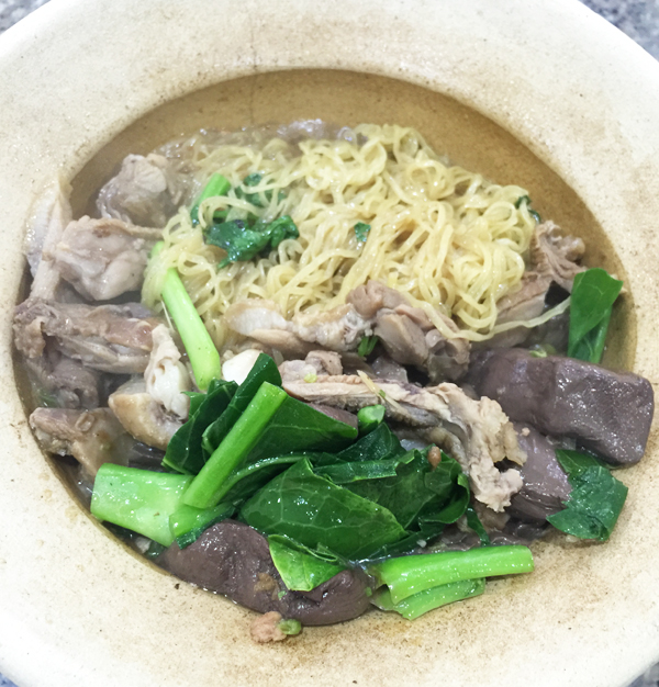 The story goes that many years ago, my friend posted a picture of this claypot duck noodles and declared it heavenly. I commented saying I wished I could try it. And many years later, I am FINALLY here. In other news, hello again, blood pudding.