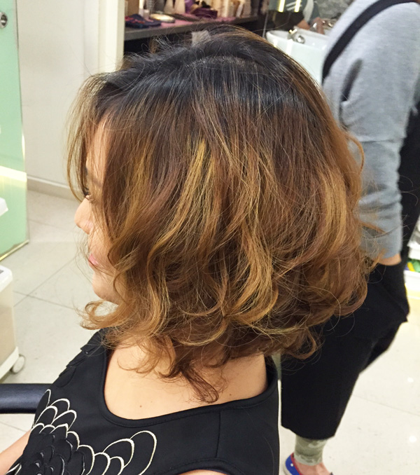 A soft perm at Mosche in December 2014